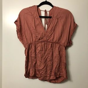 Lucky Brand Rose Babydoll Top